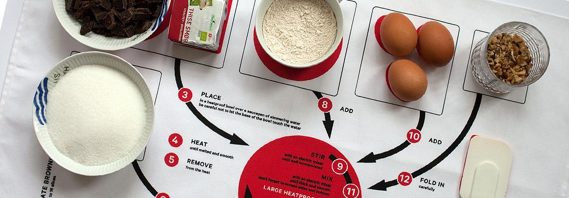 Des recettes imprimées sur des torchons pour cuisiner malin