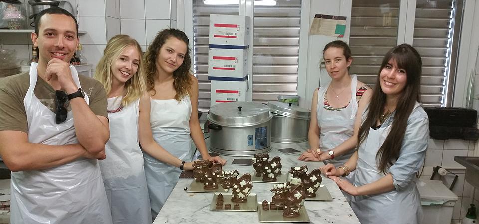Atelier chocolat chez Nessi